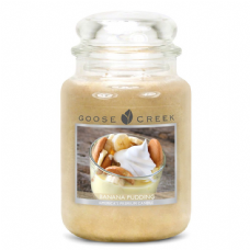 Goose Creek Premium Large Round Scented Candle Jar BANANA PUDDING Double Wicked